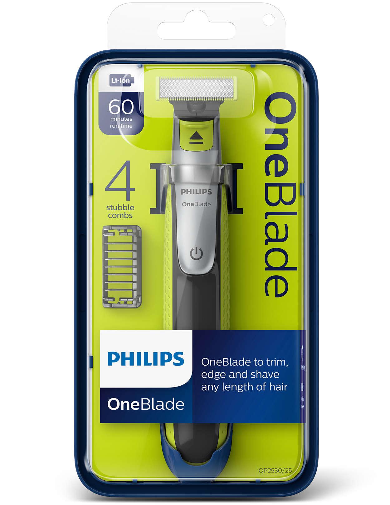 philips oneblade electric trimmer styler shaver 4x combs. Black Bedroom Furniture Sets. Home Design Ideas